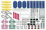 Accessory Set For Automobiles -- HO Scale Model Railroad Vehicle Accessory -- #49968