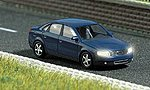 Vehicles w/Working Lights - Audi A4 4-Door Sedan -- HO Scale Model Railroad Vehicle -- #5651