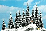 Snow Covered Pine Trees - 2-3/8-5-3/8'' -- HO Scale Model Railroad Tree -- #6466
