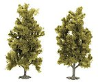 Trees - Birch Tree - 90mm - Package of 2 -- HO Scale Model Railroad Tree -- #6936