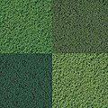Micro Foam Ground Cover Set -- Model Railroad Grass Earth -- #7320
