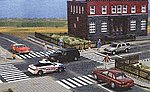 Flexible Paved Parking Lot, Self Adhesive -- HO Scale Model Railroad Road Accessory -- #9713