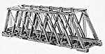 Howe Truss Bridge -- HO Scale Model Railroad Bridge Kit -- #305