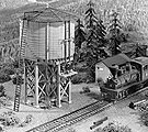 Water Tower -- HO Scale Model Railroad Building Kit -- #356
