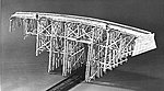 High Curved Trestle Kit -- N Scale Model Railroad Trestle Kit -- #754