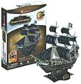 Queen Anne's Revenge Pirate Ship 3D Foam Puzzle (155pcs) -- 3D Jigsaw Puzzle -- #4005