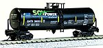 40' Funnel-Flow Tank Car Soy Power Biodiesel -- N Scale Model Train Freight Car -- #14397