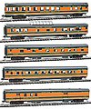 85' Smooth-Side 5-Car Set Great Northern Empire Builder -- N Scale Model Passenger Car -- #40374