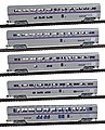 85' Superliner Amtrak Phase IV (5) -- N Scale Model Train Passenger Car -- #40673