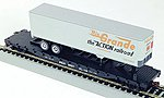 54' Flatcar with Trailer Baltimore & Ohio -- HO Scale Model Train Freight Car -- #9429