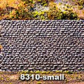 Cut Stone Retaining Wall - Small -- N Scale Model Railroad Scenery Structure -- #8310