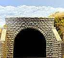 Double-Track Cut Stone Tunnel Portal -- HO Scale Model Railroad Scenery -- #8350