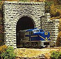 Single-Track Random Stone Tunnel Portal -- HO Scale Model Railroad Scenery -- #8360