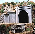 Concrete Tunnel Portal Double Track (2 Pack) -- N Scale Model Railroad Scenery -- #9730