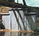 Concrete Stepped Wall Abutment (2) -- N Scale Model Railroad Scenery -- #9820