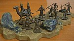 Biblical Era Arab Camel Riders and Bedouin -- Plastic Model Military Figure -- 1/72 Scale -- #23