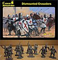 Dismounted Crusaders (34+) -- Plastic Model Military Figure -- 1/72 Scale -- #86