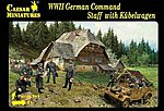 1/72 WWII German Command Staff (9) w/Kubelwagen