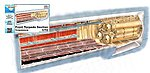 1/72 German U-Boat Type IX C Front Torpedo Section for RVL