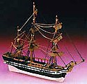 Junior HMS Bounty Frigate Ship w/solid wood hull (Beginner)