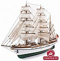 1/187 Gorch Fock 3-Masted German 1958 Training Ship w/painted plastic hull (Intermediate)