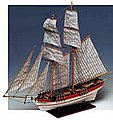 1/100 Flyer Double-Masted American Schooner Ship w/solid wood hull (Intermediate)