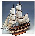 1/100 Union Double-Masted American Merchant Sailing Ship w/solid wood hull (Intermediate)