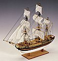 1/110 HMS Bounty 3-Masted Frigate Ship w/solid wood hull (Intermediate)