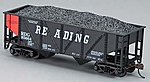 36' Hopper w/Coal Reading Orange Panel HO