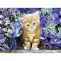 Ginger Cat in Flowers 500pcs -- Puzzle 0-500 Piece -- #30415