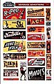 Beverage Advertising Signs -- HO Scale Model Railroad Sign -- #5013