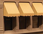 Window Awning Set (30) -- HO Scale Model Railroad Building Accessory -- #900