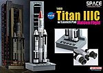 TITAN IIIC with Launch Pad -- Diecast Model Spacecraft -- 1/400 scale -- #56341