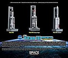 Titan III Rockets with Pads -- Diecast Model Spacecraft -- 1/400 Scale -- #56395
