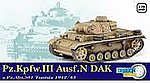 Pz.Kpfw.III Ausf.N DAK -- Plastic Model Military Vehicle -- 1/72 scale -- #60601