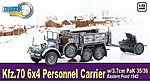 Kfz.70 6x4 PERSONNEL CARRIR -- Plastic Model Military Vehicle -- 1/72 scale -- #60638