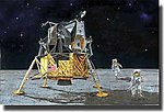 NASA- Apollo 11 Lunar Landing CSM Columbia & Lunar Module Eagle Kit -- 1/72 Scale -- #11002