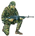 US Navy Seal Vietnam War -- Plastic Model Military Figure -- 1/16 Scale -- #1607