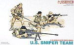 U.S. Sniper Team -- Plastic Model Military Figure -- 1/35 Scale -- #3016