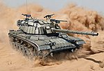 IDF M60 w/Explosive Reactive Armor Kit -- Plastic Model Military Vehicle -- 1/35 Scale -- #3581