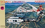 SH-60F HS-14 Chargers/SH-60B HSL-51 Warlords -- Plastic Model Helicopter Kit -- 1/144 Scale -- #4621