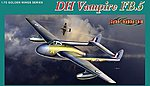 DH Vampire FB5 Fighter/Bomber (New Tool) -- Plastic Model Airplane Kit -- 1/72 Scale -- #5085