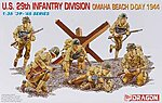 US 29th Infantry Div Omaha Beach D-Day (6) -- Plastic Model Military Figure -- 1/35 Scale -- #6211