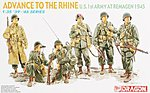 WWII Advance to the Rhine -- Plastic Model Military Figure -- 1/35 Scale -- #6271