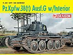 Pz.38(t) Ausf.G -- Plastic Model Tank Kit -- 1/35 Scale -- #6290