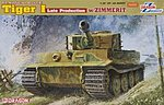 Tiger I Late Production w/Zimmerit -- Plastic Model Tank Kit -- 1/35 Scale -- #6383