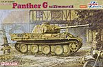 SdKfz 171 Panther G Tank w/Zimmerit -- Plastic Model Tank Kit -- 1/35 Scale -- #6384