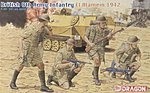 British 8th Army Infantry El Alamein 1942 -- Plastic Model Military Figure -- 1/35 Scale -- #6390