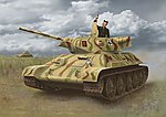 T-34-747 STZ Mod. 1942 Late Production -- Plastic Model Tank Kit -- 1/35 Scale -- #6449
