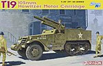 T19 105mm Howitzer Motor Carriage -- Plastic Model Military Vehicle Kit -- 1/35 Scale -- #6496